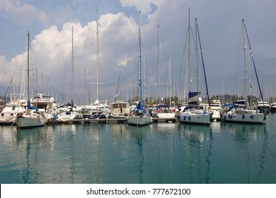 Marina for ships and yachts, and ship overhaul. May 24.2017, Gouvia, Corfu, Greece