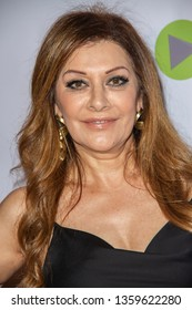Marina Sirtis arrives at the 10th Annual Indie Series Awards at The Colony Theatre in Burbank, CA on April 3, 2019.
