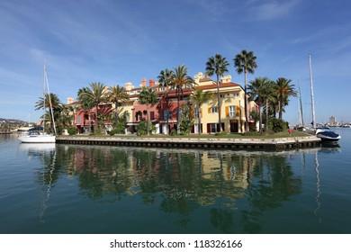 Marina in Sotogrande, Costa del Sol, Andalusia Spain