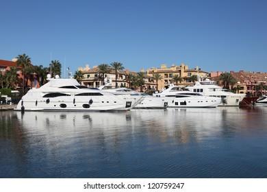 Marina in Sotogrande, Costa del Sol, Andalusia, Spain