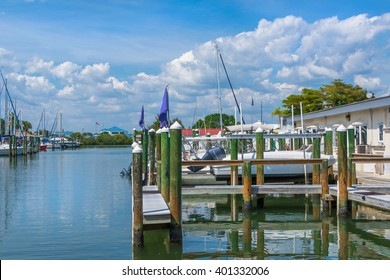 Marina in Southwest Florida along the intracoastal waterway.