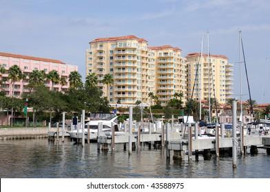 Marina in St. Petersburg, Florida USA