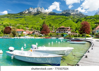 marina in Talloires at Lake Annecy in France