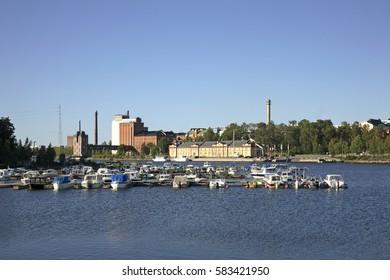 Marina in Vaasa. Finland