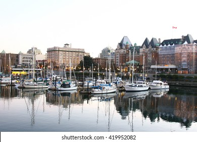 Marina at Victoria BC in front of the parliament building