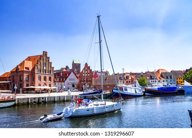Marina of Wismar, Germany