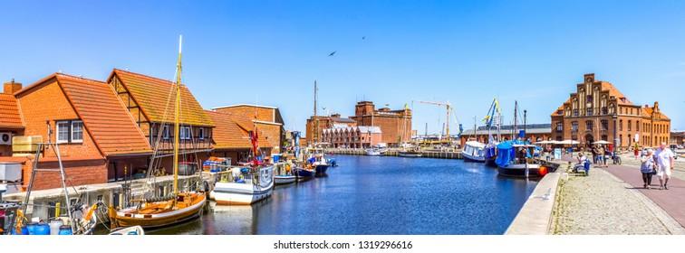 Marina of Wismar, Germany
