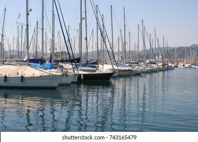 Marina for yachts and pleasure boats
