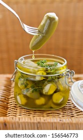 Marinated jalapeno with cream cheese in live oil