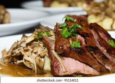 Marinated Sake Steak with Pepper and Sauce