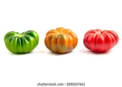 Marinda Tomatoes (Solanum lycopersicum) on a white background