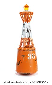 Marine buoy isolated on white background 3d