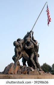 Marine Corps War Memorial and Iwo Jima flag raising statue