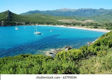 Marine de Pietracorbara beach. Corsica