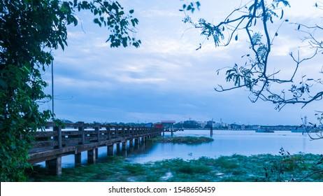 Marine Drive, Kochi, Kerala, India : Sep 2019