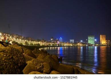 Marine Drive Night Mumbai, Bombay