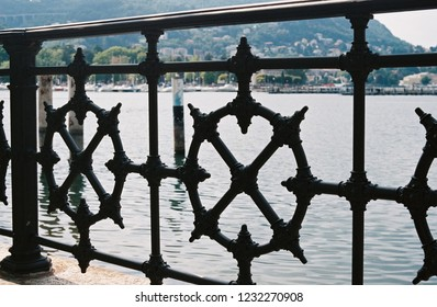 Marine fence in the port of Como