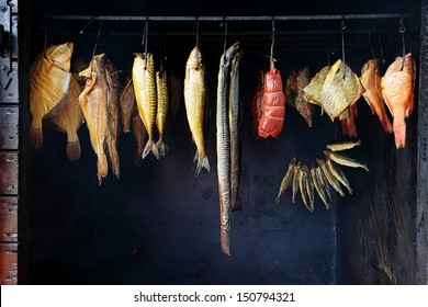 Marine fish from smokehouse is a great source of omega 3 and healthy life