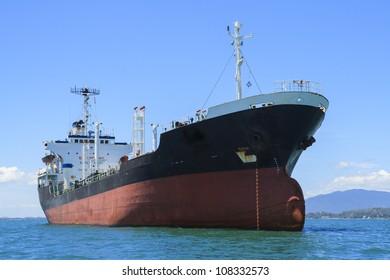 marine floating on the sea