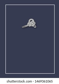 marine knot on a dark background. Double Carrick Bend