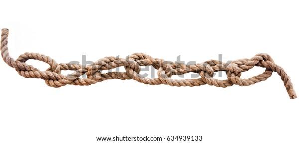 Marine knots isolated on white background
