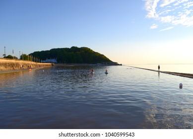 Marine lake in sunshine