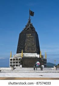 Marine memorial monument in Thailand