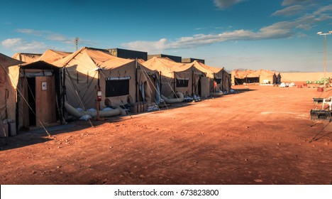 Marine military camp, nobody, anywhere in the world