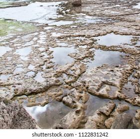 marine Rock formations in jubail city - north lebanon.