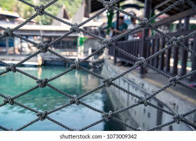 Marine rope fence