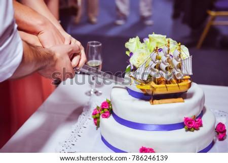 Marine Sea Themed Wedding Cake Stock Photo Edit Now 786246139