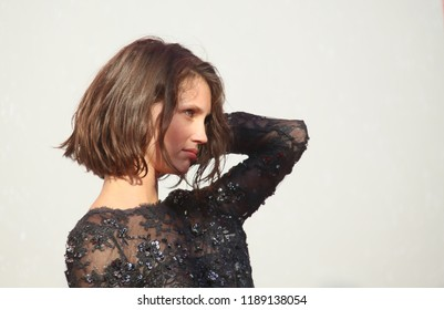 Marine Vacth walks the red carpet ahead of the 'L'Annee Derniere a Marienbad' screening during the 75th Venice Film Festival at Sala Giardino on September 5, 2018 in Venice, Italy.