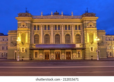 Marinsky Theater and Opera House in Saint Petersburg, Russia during the twilight of the June's white nights.