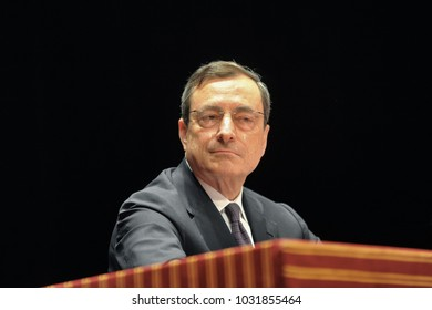 Mario Draghi the italian economist President of European Central Bank during an interview Rome Italy circa September 2017