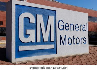 Marion - Circa March 2019: General Motors Logo and Signage at the Metal Fabricating Division. GM opened this plant in 1956 II