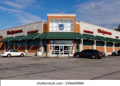Marion - Circa March 2019: Walgreens Retail Location. Walgreens is an American Pharmaceutical Company III