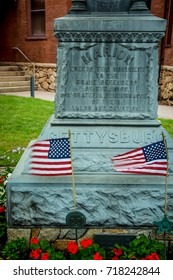 Marion, Massachusetts - September 17, 2016: Civil War Union Statue Monument in Marion Massachusetts