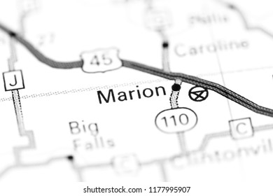 Marion Wisconsin Map.Marion Map Images Stock Photos Vectors Shutterstock