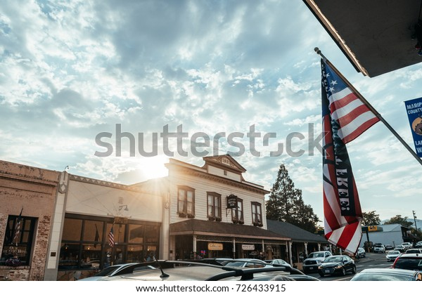 MARIPOSA. CALIFORNIA. 15 th August, 2017: beautiful town of mariposa near yosemite valley
