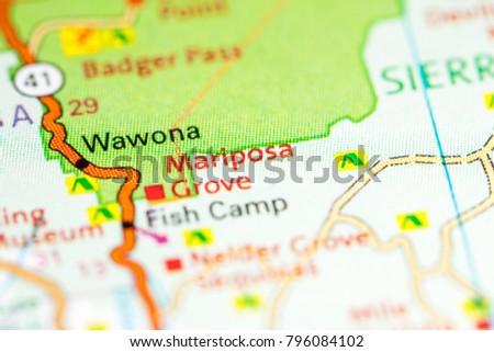 Orange Grove California Map.Mariposa Grove California Usa On Map Stock Photo Edit Now