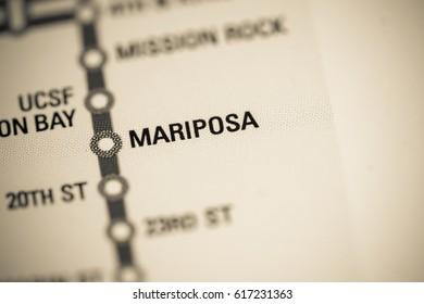 Mariposa Station. San Francisco Metro map.