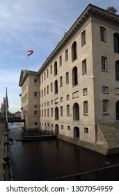 The maritime museum in a historical VOC warehouse in Amsterdam, Holland