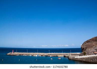 Maritime port of La Aldea, Gran Canaria.