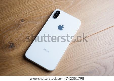 Mariupolukraine 5 October 2017 New Iphone X Smart Phone Stock Photo