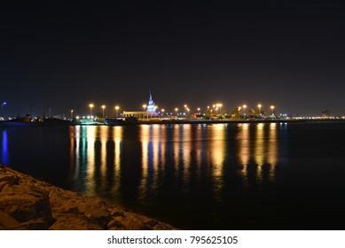 Marjan Island Dammam Nigh View