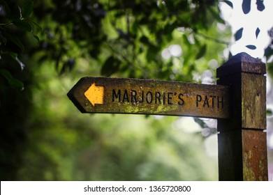 Marjorie's Path signage