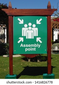 The mark of the Assembly point in the hotel