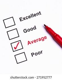 Mark Average on performance  evaluation
