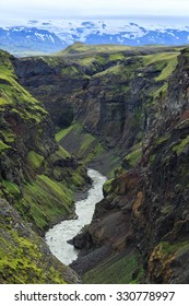 The Markarfljot canyon in southern Iceland.