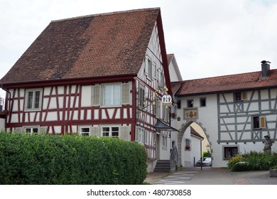 MARKDORF, GERMANY - CIRCA AUGUST 2016 Building on the street